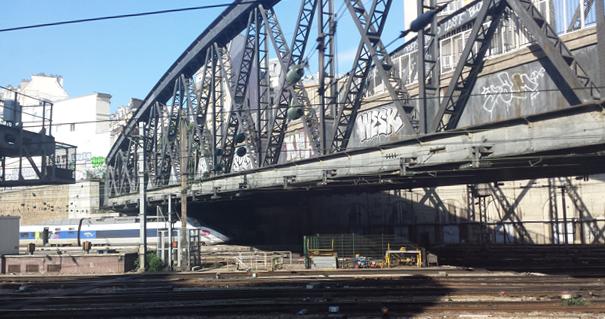 TGV as our train departs the Gare de Paris-l'Est, 1 September 2014
