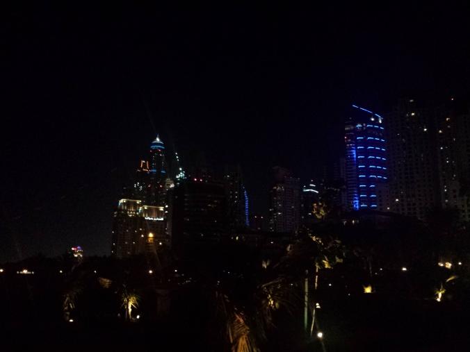 Dubai Marina at night, April 3, 2015.